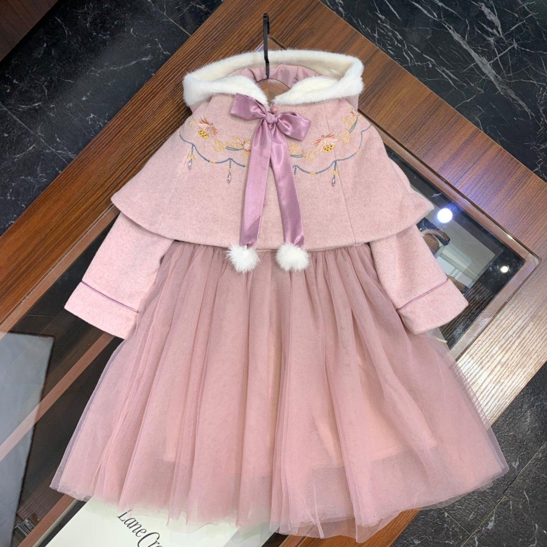 Girls sets 2pcs high quality WSJ012 top + dress # 112827 xia8803