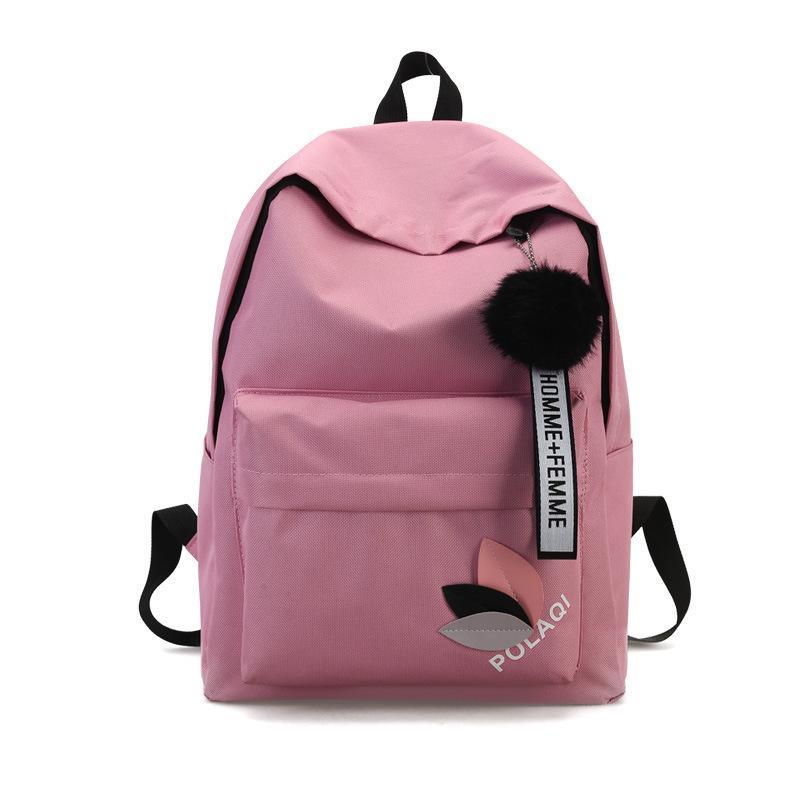 31ff139e32 Casual Backpack School Bags For Girl Canvas Laptop Backpacks Hairball  Shoulder Bag Female Bagpack Mochila Simple Design Rucksack Swiss Gear  Backpack Osprey ...
