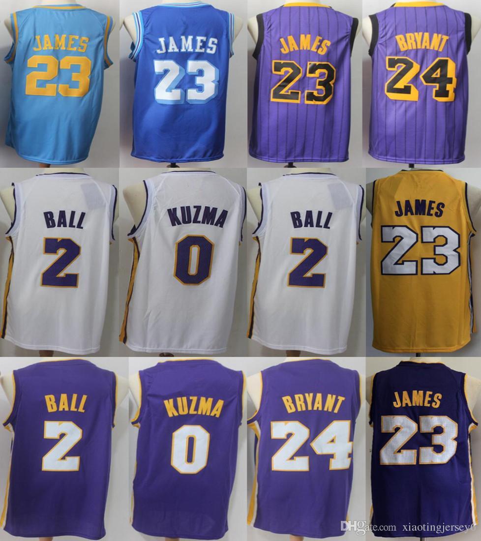 8c8e0c8ad 2018-2019 New Season Men 23 LeBron James Jersey Los Angeles Lakers 2 ...