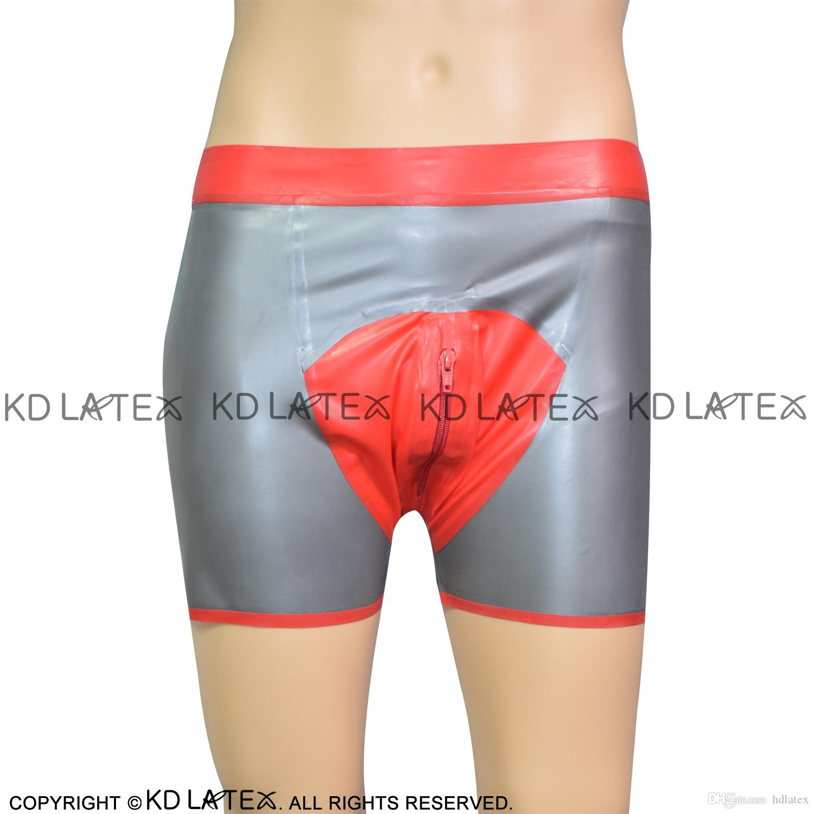 Novelty & Special Use Latex Short Pants Sexy Latex Rubber Underwear Latex Pants Many Color Men's Exotic Apparel