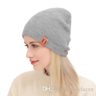 ce683ba46ed 2018 New Wool Knit Hat Beanies Fashion Solid Color Wild Autumn And Winter  Fashion Ear Protection Casual Caps For Men And Women Winter Hats Beanie Hats  From ...