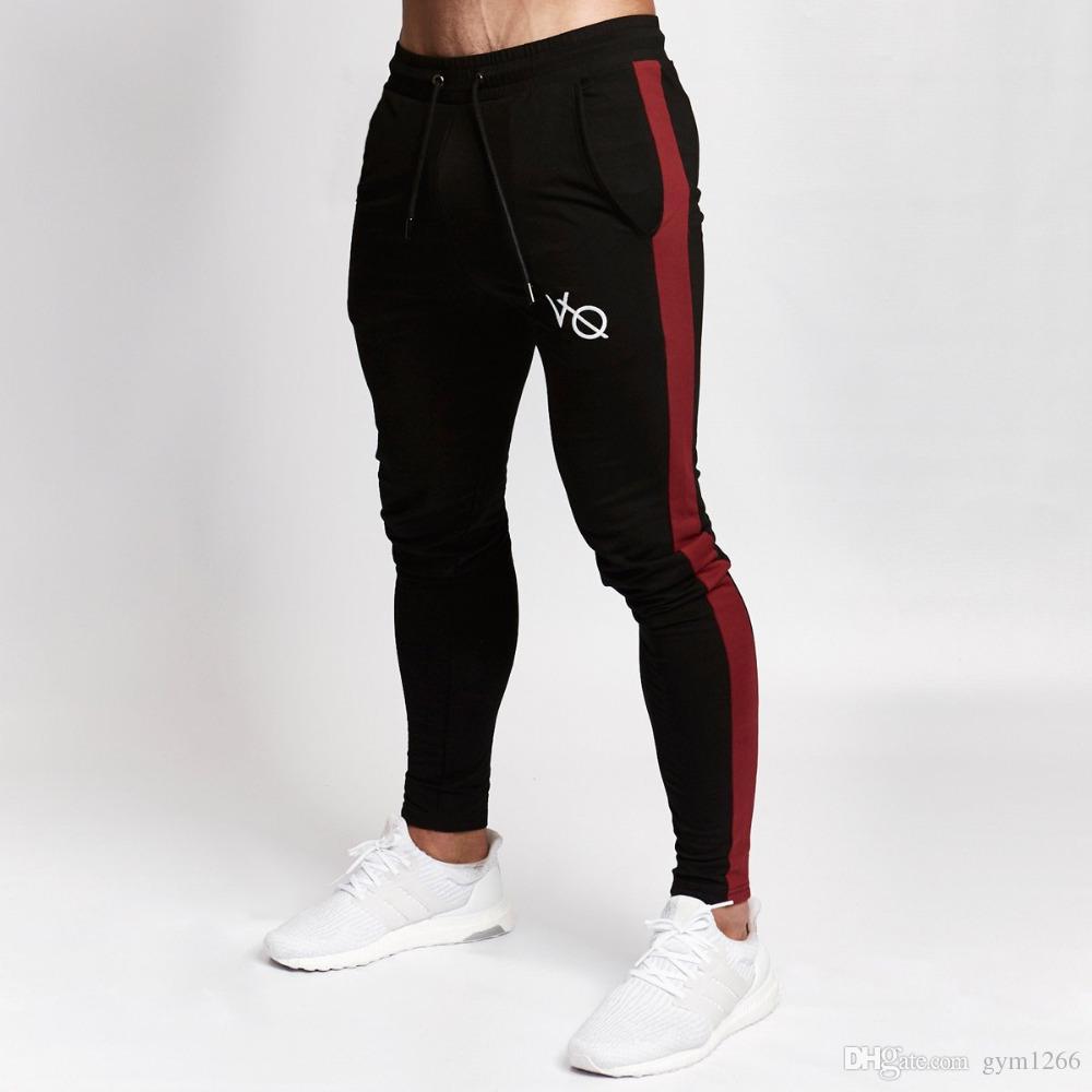 58a7dddf14f2 Acheter Pantalon Court De Jogging Pour Hommes Fitness Sportswear Survêtement  Bas Pantalons De Survêtement Skinny Pantalons Pantalons De Sport Noirs  Jogger ...