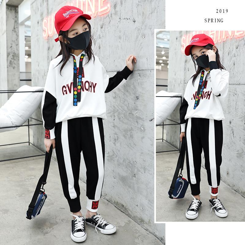Spring Autumn Baby Girls Clothes Suits Sport hiphop For Boys Pullover Coat Elastic Trousers Kids Outfits Children