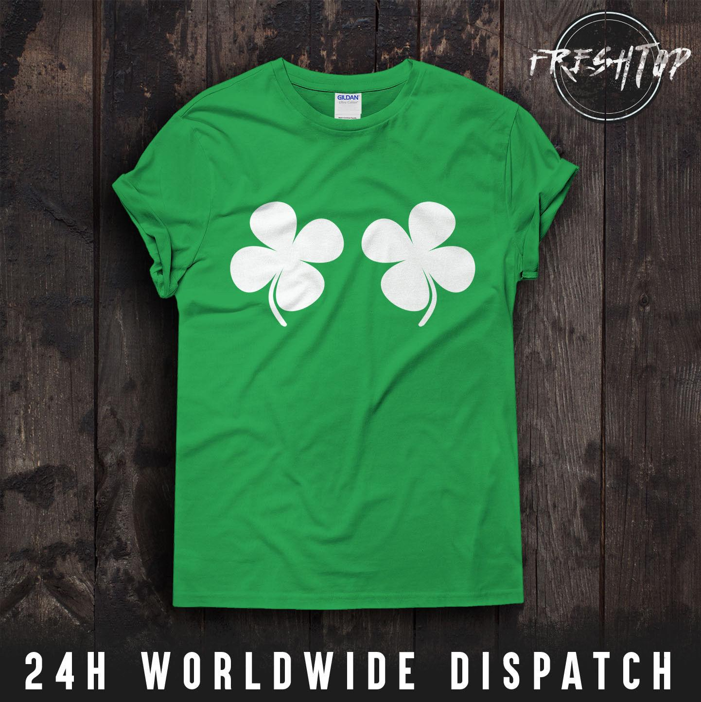 43b971a6b Titties Shamrock T Shirt Ireland Clover Boobs Hen Night Party St Patricks  DayFunny Unisex Casual Gift Tee Shirt Shop Online One T Shirt A Day From ...