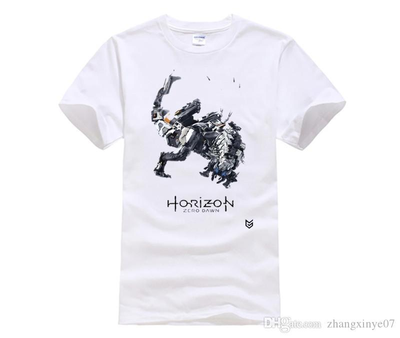 fashion t-shirts for men Game Horizon Zero Dawn T-shirts Print Pattern Short Sleeve O-neck street Tee Shirts