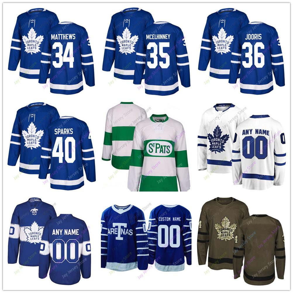 bf121ce7c3a 2019 Auston Matthews Curtis McElhinney Josh Jooris Garret Sparks Jersey  2019 Winter Classic Toronto Maple Leafs Home Away New Third Women Youth S  From ...