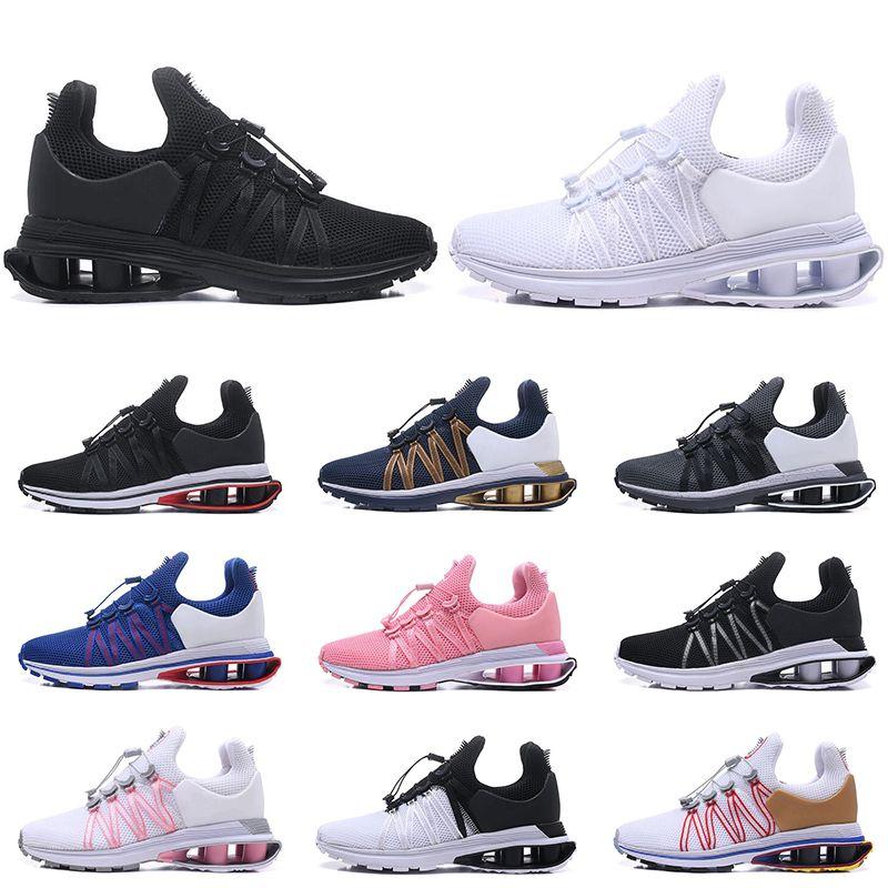 best service 2e30f d8eba Compre Nike Shox Air Run GRAVITY, Zapatillas Deportivas Transpirables Para  Hombres, Mujeres, Zapatillas De Deporte Para Hombre, Entrenadores, Triple  Negro ...