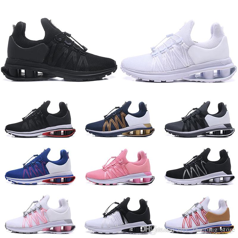 af1b35b5196d8 Acquista Nike Shox Air Run Scarpe Da Corsa Traspiranti GRAVITY Uomo Donna  Sneakers Da Uomo Scarpe Da Ginnastica Triple Nero Bianco Rosso Rosa Blu  Moda ...