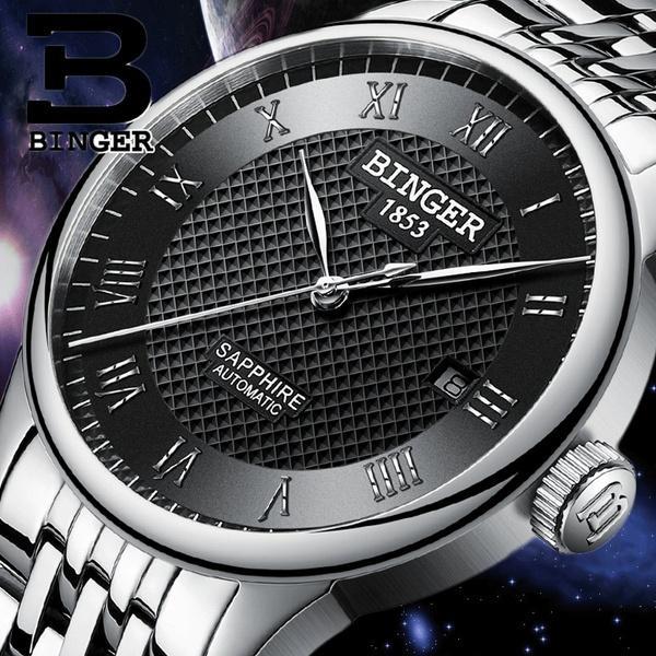 Compre BINGER Relojes Hombres Zafiro Impermeable Nadar Automático Cuerda  Automática Relojes De Pulsera Uhr Con Caja De Regalo A  111.68 Del  Noncontradiction ... 079914815ec3