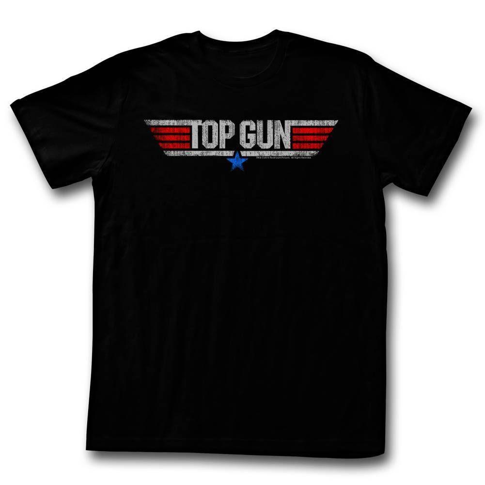 e9fcedbdf1c5 TOP GUN Men's Short Sleeve T-Shirt BLACK LOGO wholesale free shipping  Summer 100% Cotton New High Quality Print Summer Style