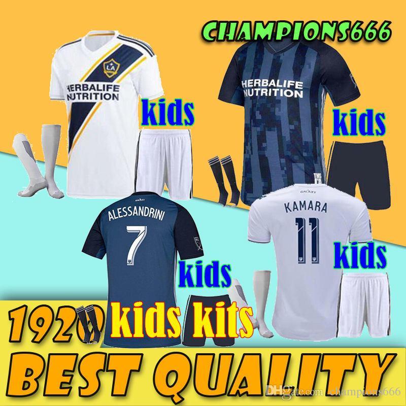 best service 8ee7f ec824 2019 MLS LA Galaxy Soccer Jersey KIDS Kit 19 20 Los Angeles Galaxy  IBRAHIMOVIC GIOVANI DOS SANTOS KAMARA Football Jerseys