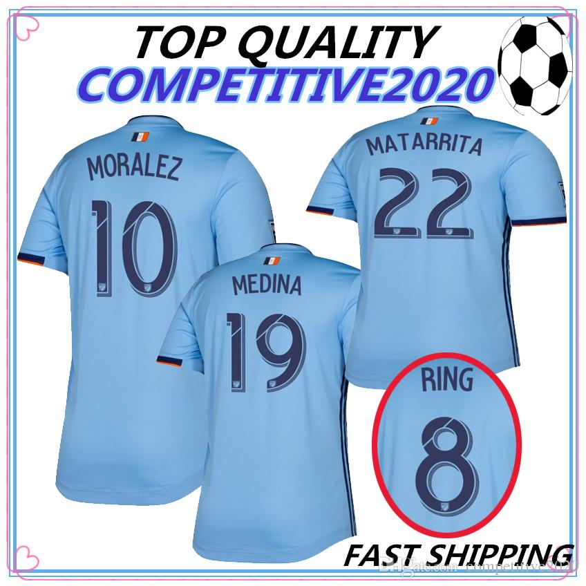 b8811cd17 NEW 2019 2020 Nycfc Thailand Quality New York City Soccer Jersey Home 19 20  MLS LAMPARD PIRLO MCNAMARA MORALEZ DAVID VILLA Football Shirts UK 2019 From  ...