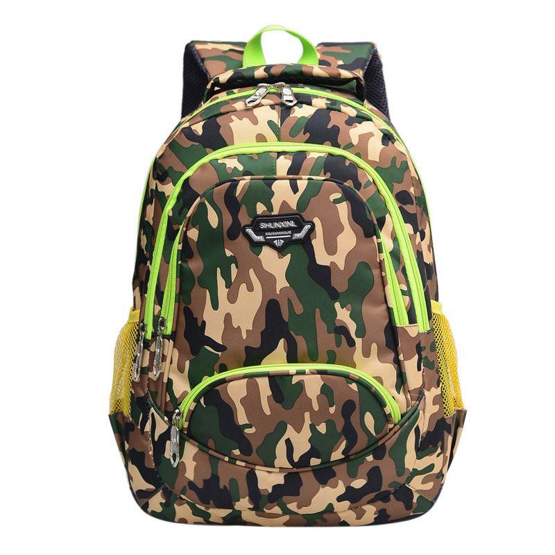 good quality Camouflage Children School Bag