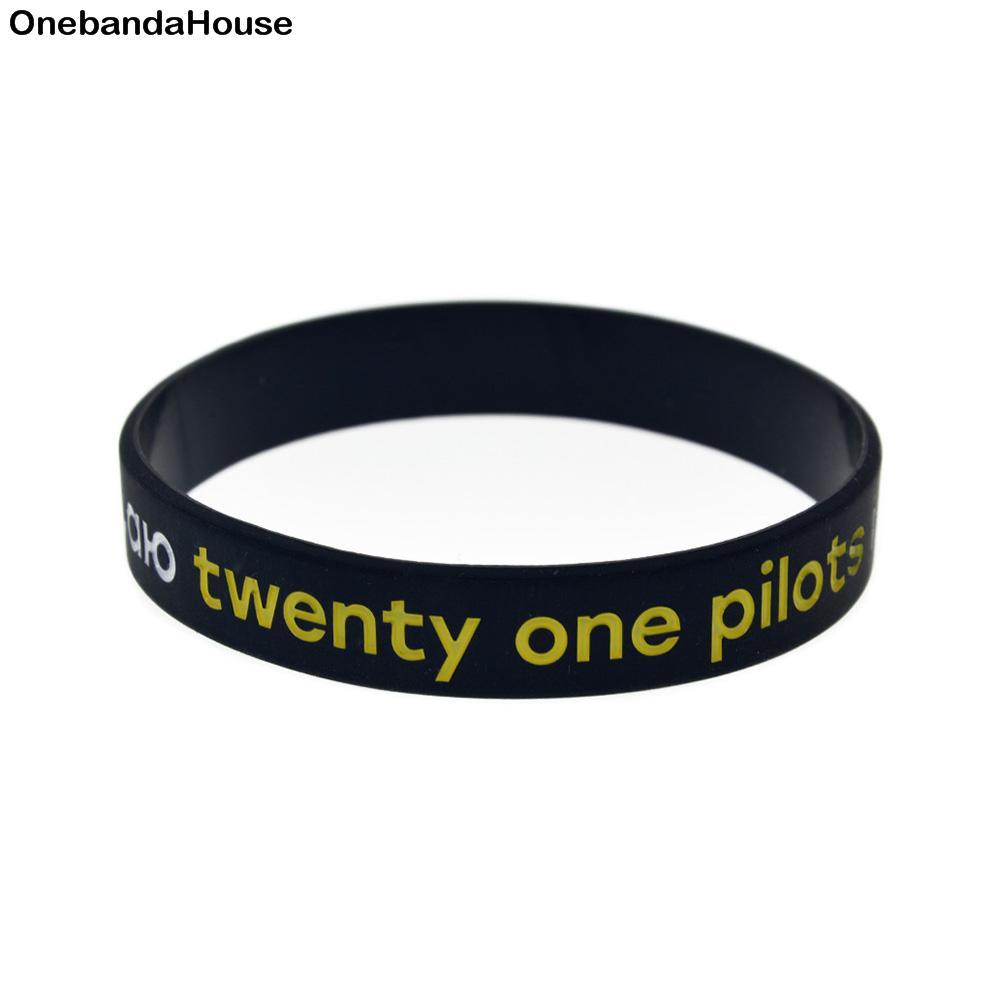 OneBandaHouse 50PCS/Lot Music Band Bracelet Twenty One Pilots in Russian  Silicone Wristband