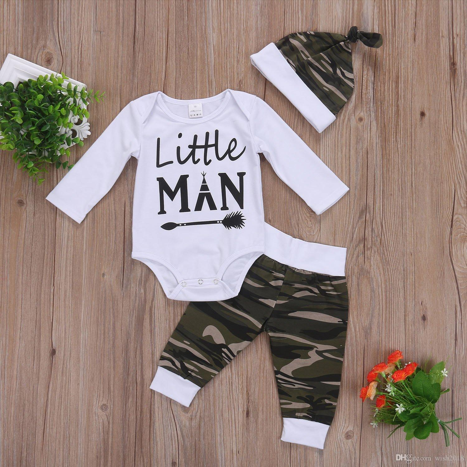 44b6b699dfa5 2019 Baby Boy Girl Suit For Baby Shower Deer Print Long Sleeve Romper+Long  Pants+Hat From Wish2018