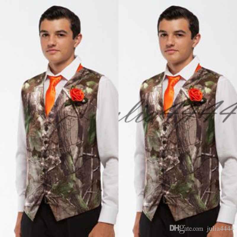 abe82855e341 2019 Formal Camo Men Vests With Tie Camouflage Groom Groomsman Vest Cheap  Satin Custom Formal Wedding Vests Country Groom Vests Vest Wedding Suit  Vests And ...