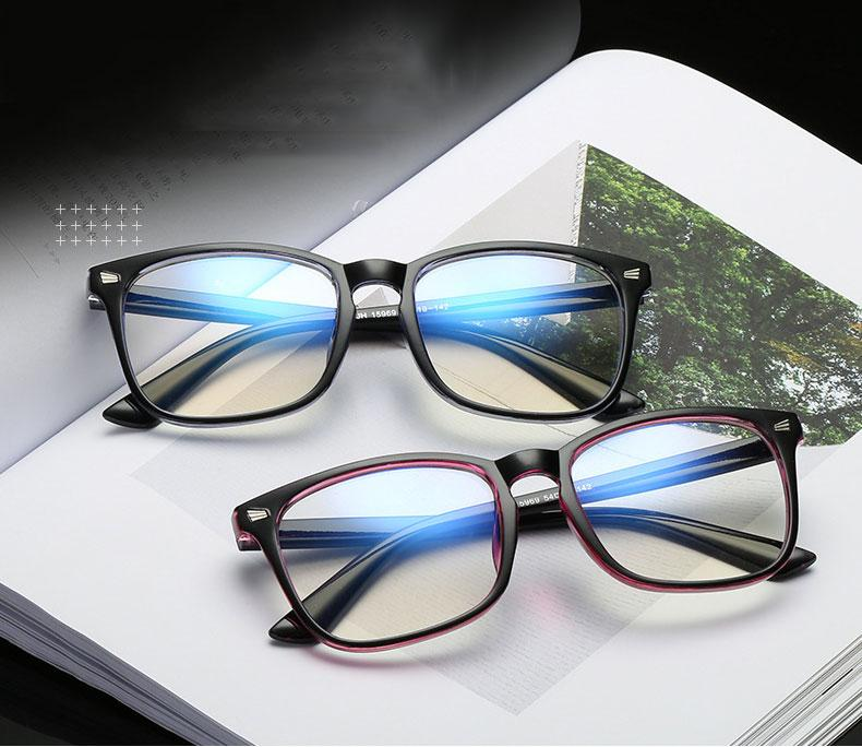 c1be5a3d81 2019 Fashion Anti Blue Ray Radiation Blue Light Blocking Glasses Square  Anti Eye Fatigue Computer Gaming Goggles Nerd Glasses Frame From  Marquesechriss