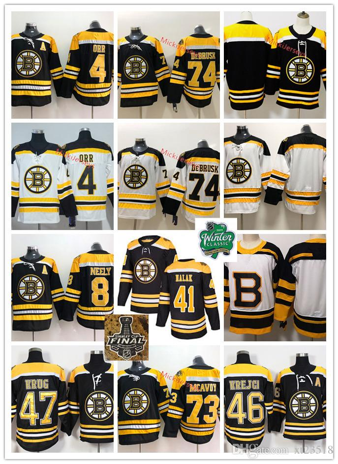 sale retailer ac761 41643 Boston Bruins Bobby Orr Jersey Cam Neely David Krejci Torey Krug Charlie  McAvoy Jake DeBrusk Jaroslav Halak Bruins 2019 Stanley Cup Jersey
