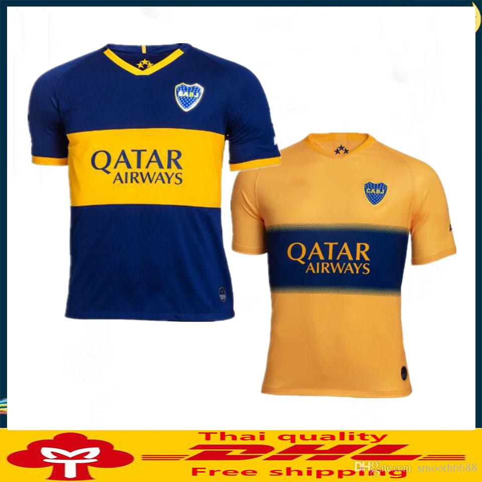 DHL Free shipping 2019 2020 Top thailand Quality Boca Juniors Jersey Home Away 19 20 Boca Juniors soccer jerseys Size can be mixed batch