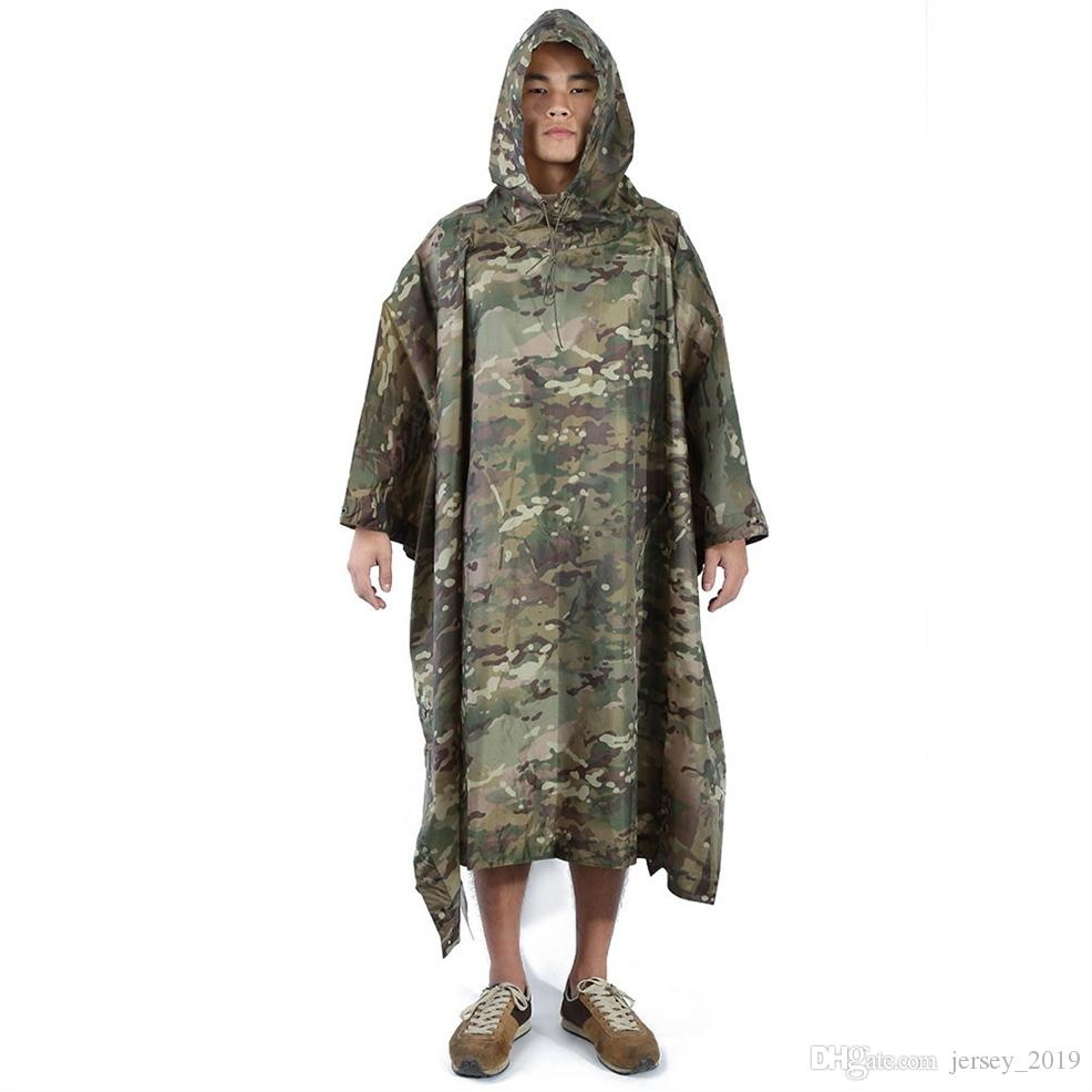 b4ea7fcf8458d 2019 Multifunctional Military Impermeable Camo Raincoat Waterproof Rain  Coat Men Women Camping Fishing Motorcycle Rain Poncho #220072 From  Jersey_2019, ...