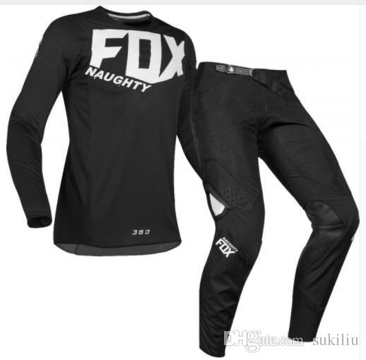 Free Shipping 2017 NAUGHTY FOX 360 blue Flight Pant/Jersey MX Motocross Dirt Bike ATV Gear Offroad Downhill RACING JESEY