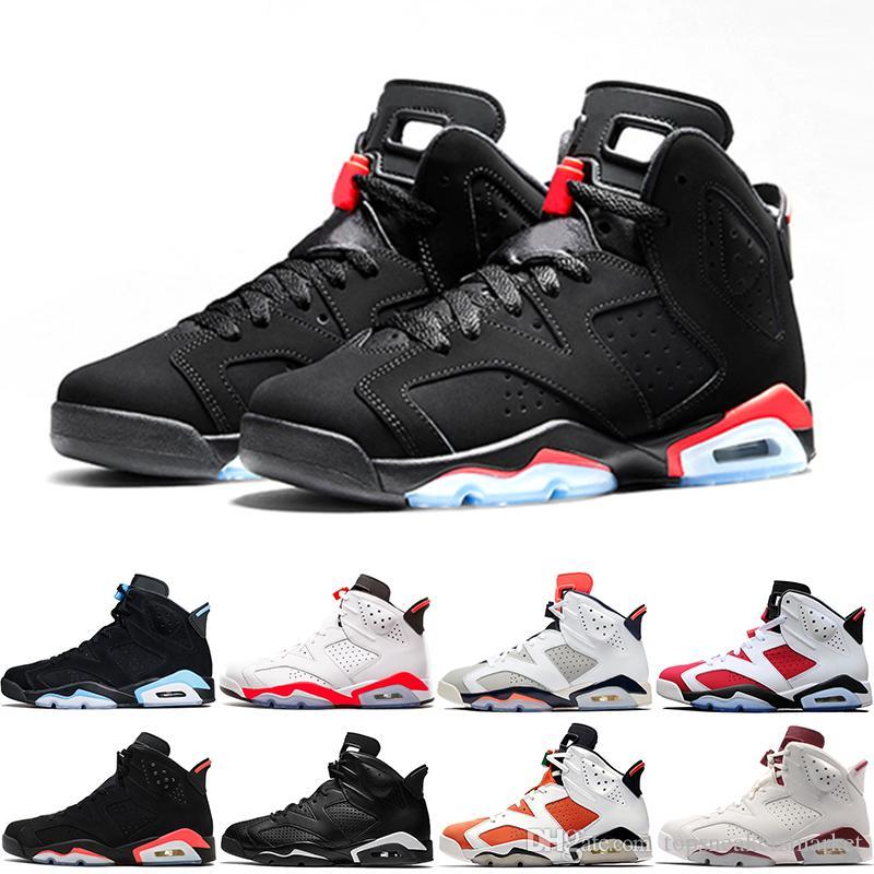 9e49f9edb67 6 6s New Bred Men Basketball Shoes Carmine Black Cat White Infared ...