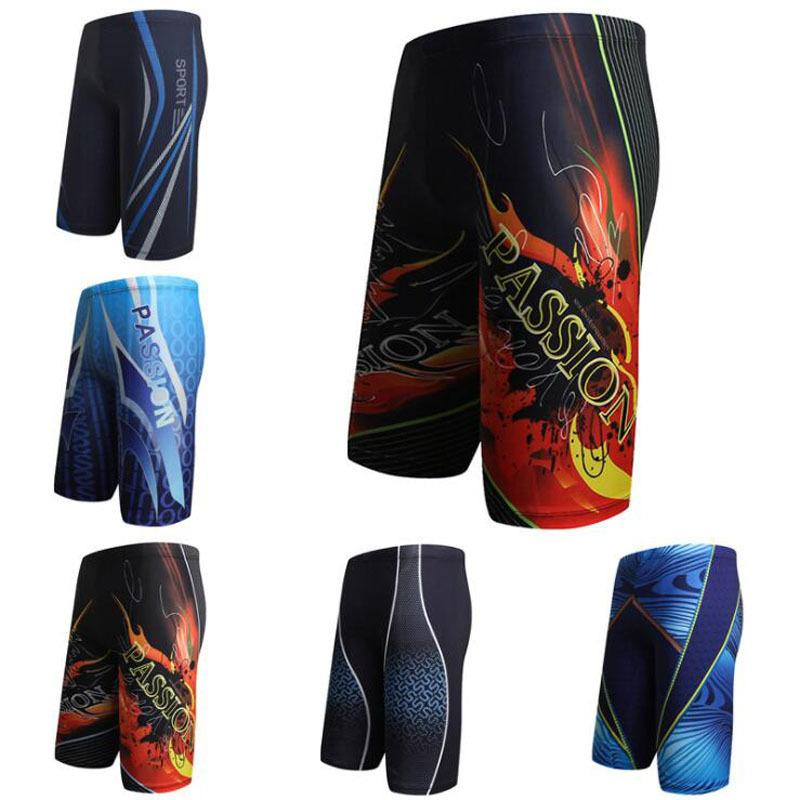 8b73bd82afd86 2019 Men Swim Shorts Swimming Pool Trunks Briefs Multi Prints Boxer Beach  Surf Long Swimwear Swimsuit Bathing Suit Wear L Xl Xxl Xxxl C19042301 From  ...