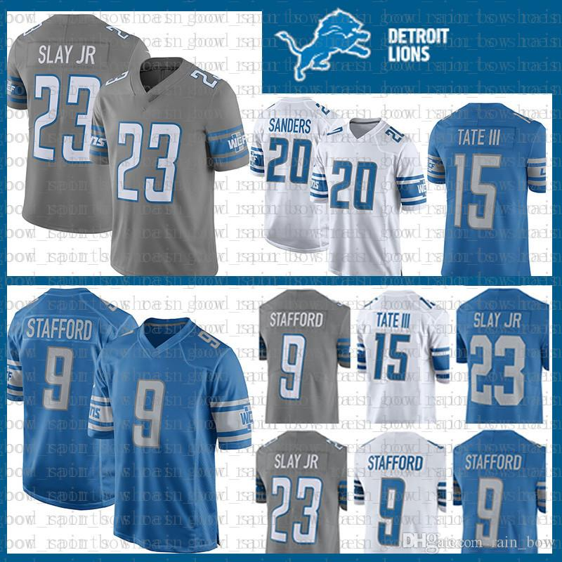 wholesale dealer fa987 9d708 Detroit Lion Jersey 9 Matthew Stafford 23 Darius Slay JR 20 Barry Sanders  15 Golden Tate III Jerseys Color Rush
