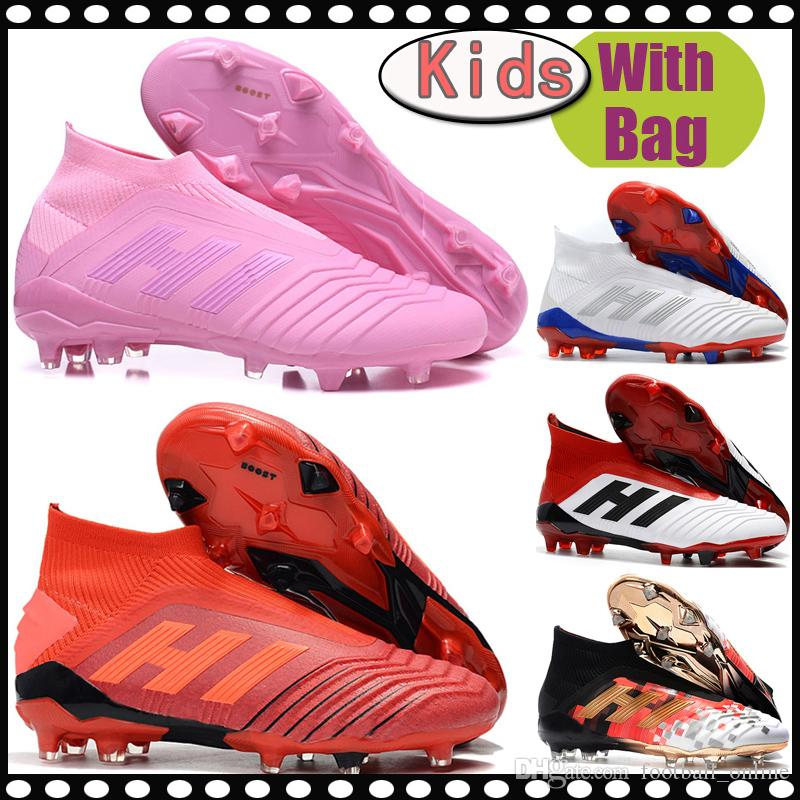 366182d6fa56 NEW Original Kids Predator 18.1 FG Soccer Shoes Leather Predator ...