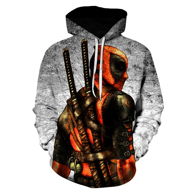 d6cd3dba16d New 2019 Marvel Comics 3D Men Deadpool Sweatshirt Hoodie Women Fashion  Casual Hip High Street Hoodies Men Jacket Clothing