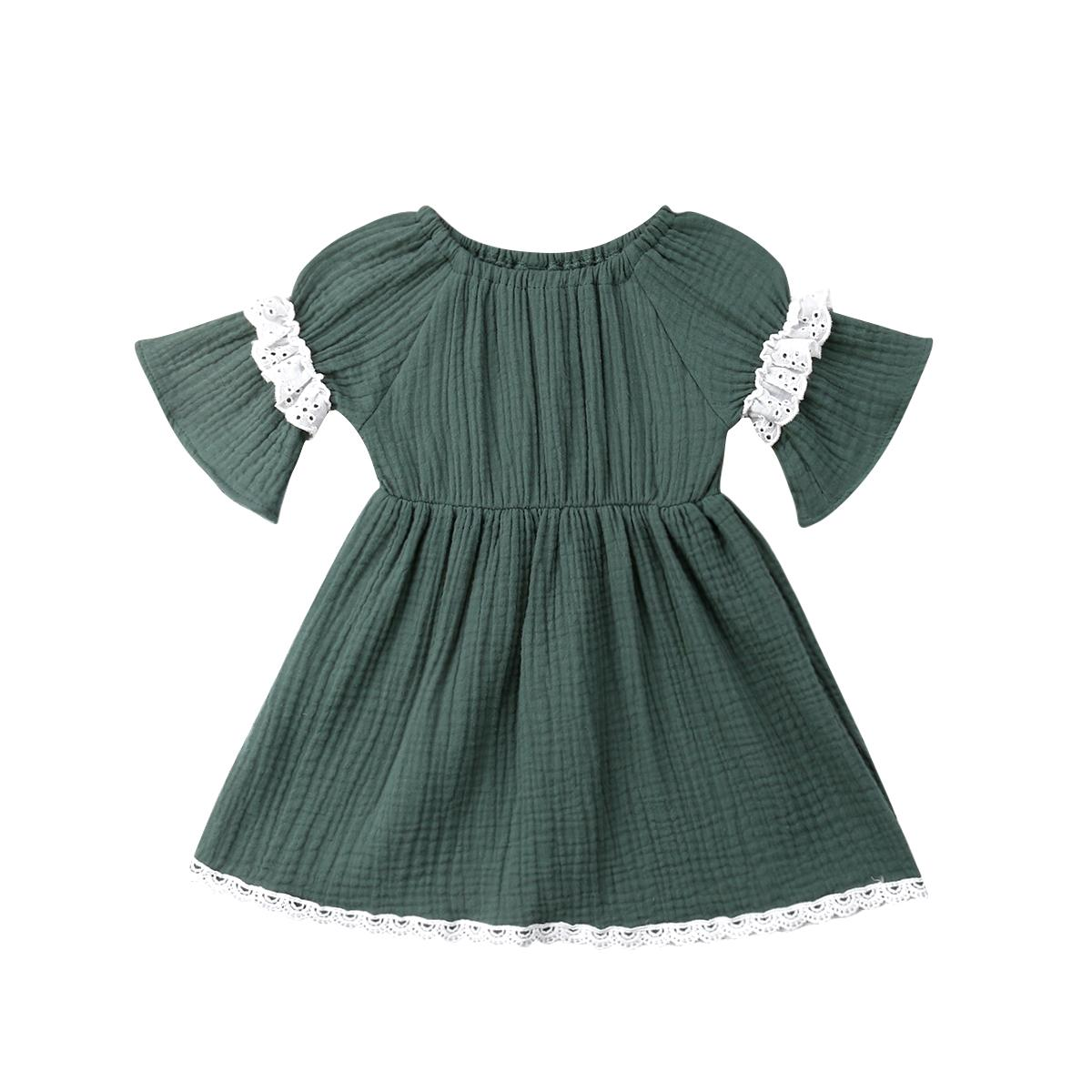 79106cf8c 2019 Infant Newborn Baby Girls Dress Vintage Ruffles Lace Green Party Holiday  Dress For Baby Girl Half Sleeve Baby Girl Costumes From Etamkend, ...