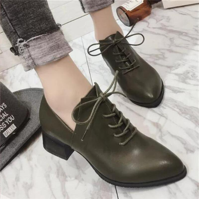 d29fe0a4b60 Designer Dress Shoes Women Pointed Toe Pumps Dress Low Heels Gladiator Square  Heel Lace Up Casual Wholesale Shoes Black Shoes From Deal000