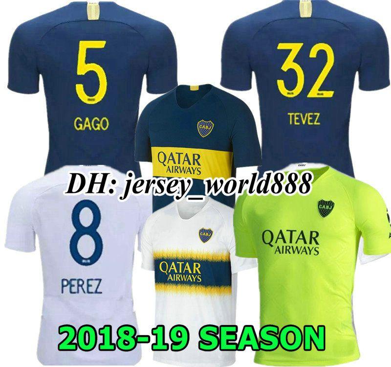 3203e97cbd Compre Top Qualidade Tailandesa 2018 2019 Boca Juniors Camisa De Futebol  Casa Fora 3RD 18 19 Boca Juniors GAGO OSVALDO CARLITOS PEREZ P Camisas De  Futebol ...