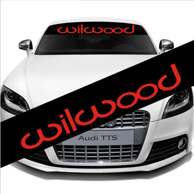 Individuality Front Windshield Exterior Banner Decal Car Sticker For WILWOOD