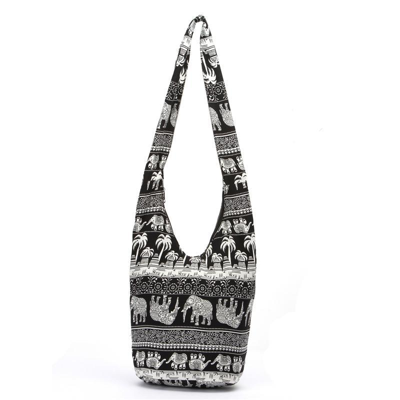 Moda Borse Cross Body Elephant Sling Crossbody Borsa a tracolla Borsa Thai Top Zip fatti a mano Nuovo colore Black Lady Shopping Creative Bags