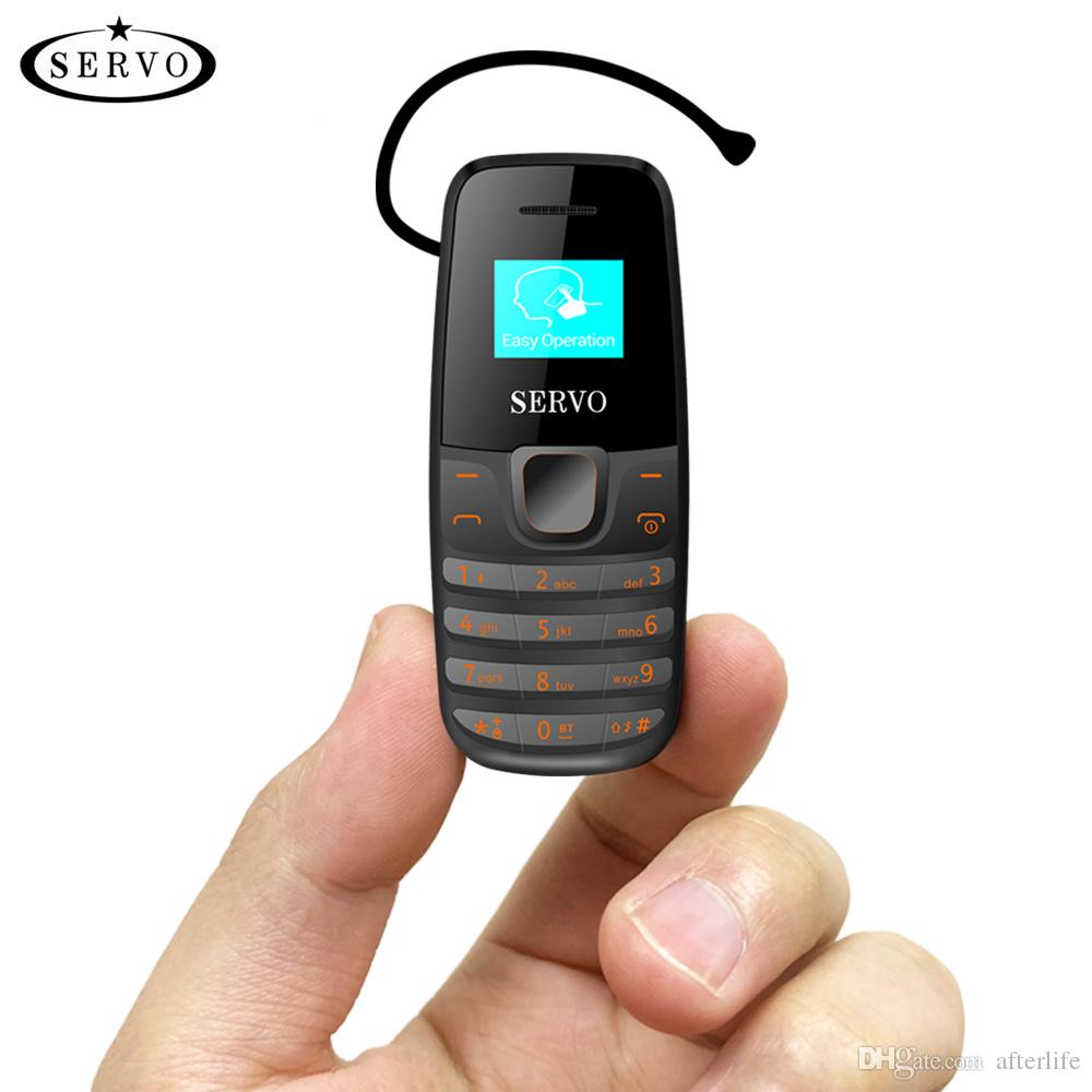 Unlocked phone SERVO S09 Dual SIM Card Bluetooth Dialer mini Mobile phone  0 66inch Tiny Screen Low Radiation Bluetooth Earphone phone
