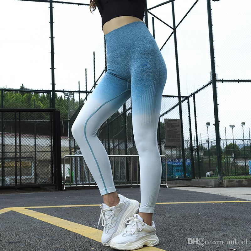 9d35d70fe48 Women Sports Gym Yoga Pants Compression Tights Seamless Pants ...
