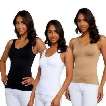 be57620dfe 2019 Women Tank Top Cami Body Shaper Removable Pads Genie Bra Shapewear  Genie Bra Camisoles Slimming Tank Tops CCA10950 From Ruby one