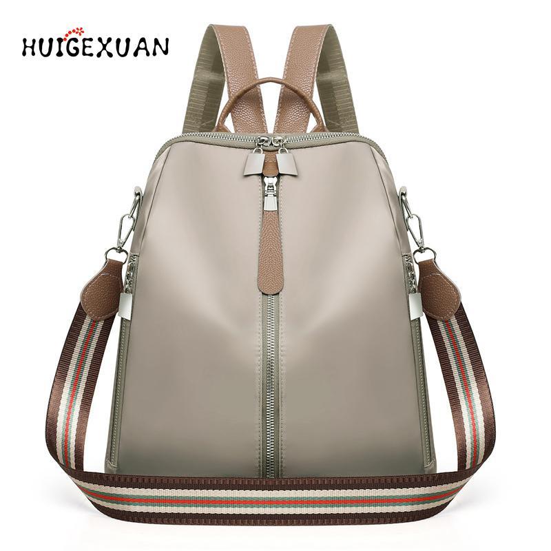 2018aa2e38c1 New Double Zipper Backpack Multifunction Oxford School Bags Backpacks For  Girls Female Vintage Backpack Ladies Shoulder Bagpacks Backpacking  Backpacks ...