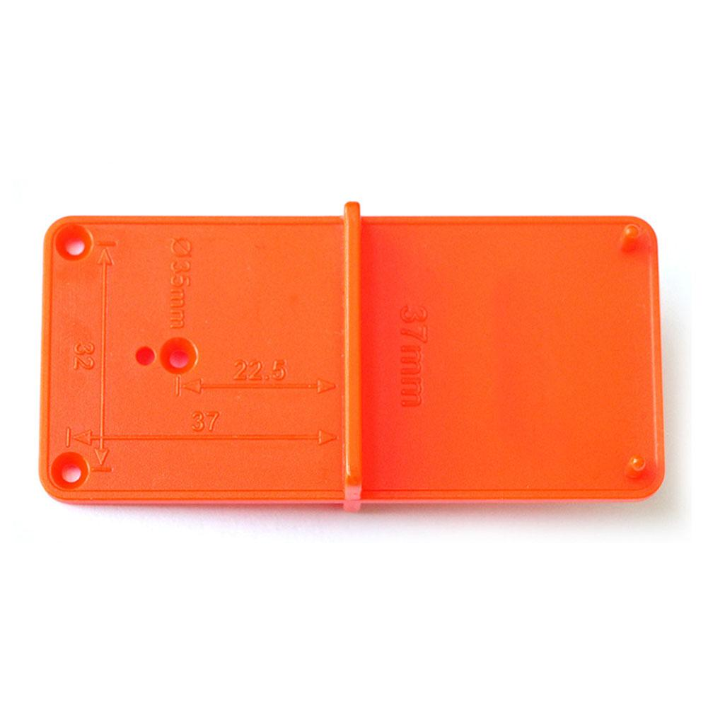 35mm 40mm Opener Durable Door Accurate DIY Tool Cabinets Practical Woodworking Hole Locator  Hinge Orange Template