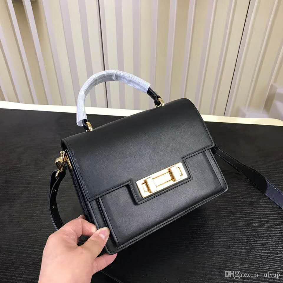 771b3a7246e 2018 Hot Sales New Designer Women Handbags High Quality Lock Flag Bags  Plain Genuine Leather Cross Body Bags for Party Shoulder Bag Handbag Flag  Bag Online ...