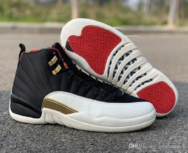 2019 Best Quality 12s Chinese New Year Man Basketball Designer Shoes XII  CNY Black True Red Sail Metallic Gold Womens Fashion Sneakers Come Box From  ... 6a95a97abba4