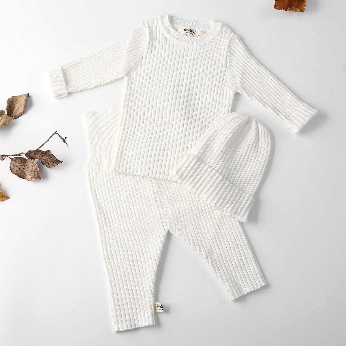 4150decac 2019 Autumn Winter Baby Girl Clothes Knit Ribbed Sweater Boys ...