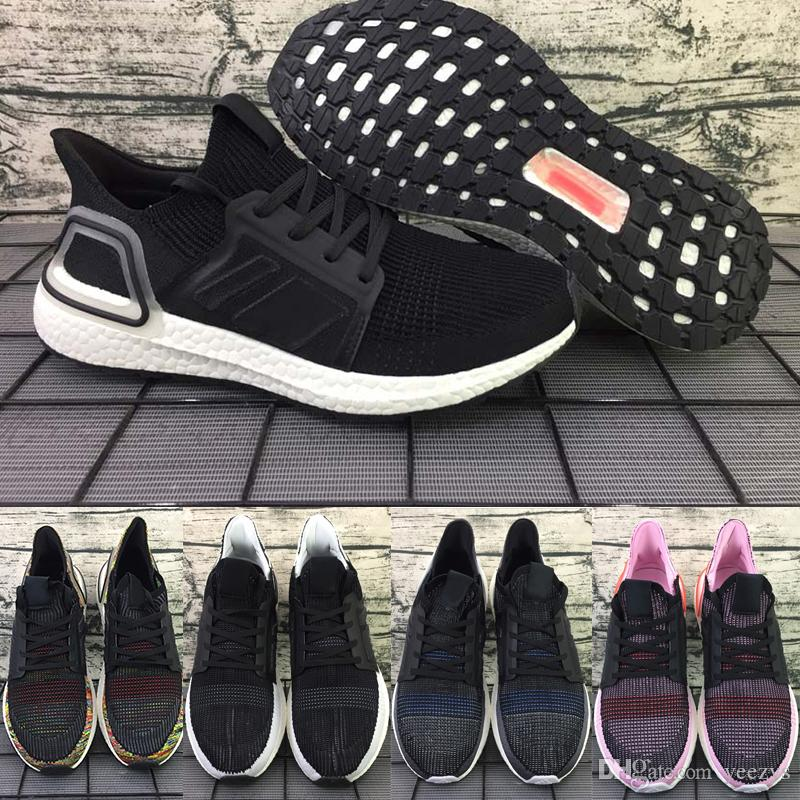 buy online 7ce58 05a59 2019 Luxury Designer Ultra Boost 19 Running Shoes For Men Women Cloud Black  Oreo Ultraboost Mens Trainer Breathable Runner Sports Sneakers