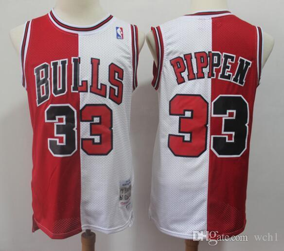 huge selection of 6f823 93391 Mitchell & Ness Scottie 33 Pippen Chicago Pippen Bulls 1997-1998 Throw back  Authentic Jersey - Red