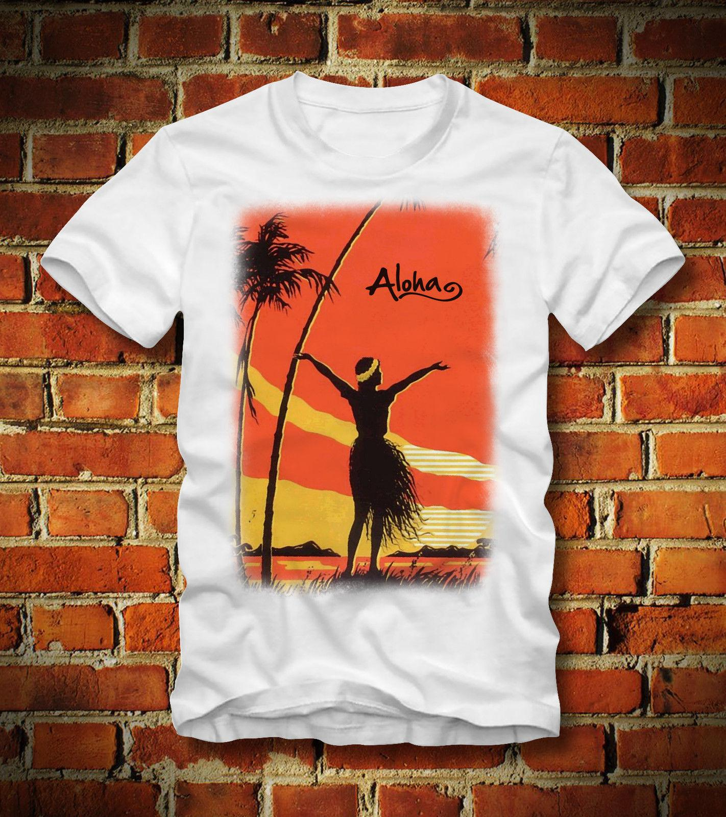 4477277032 BOARDRIPPAZ T SHIRT ALOHA HAWAII HULA SEXY GIRL SUNSET WAIKIKI BEACH STRAND  SURF