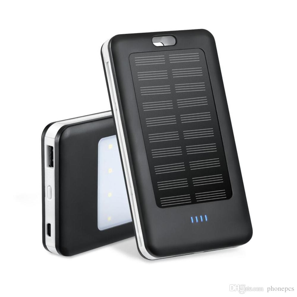 huge discount 4e7f3 2d962 SJ01 Solar Power Bank with iPhone 8 Pin Micro USB and LED Light 10000mAh