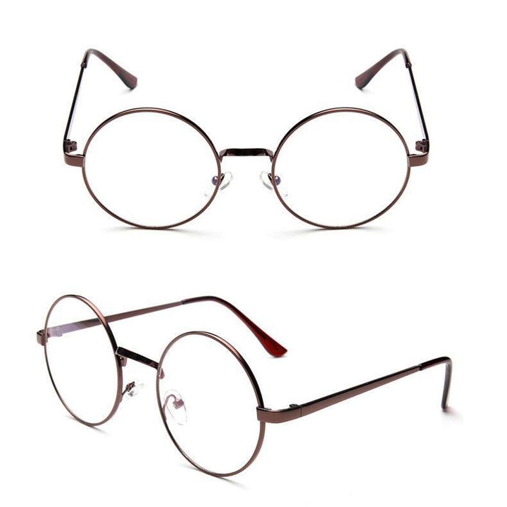63b4339792 Metal Frame Eyewear Brand Designer Nerd Geek Women Men Unisex Round ...
