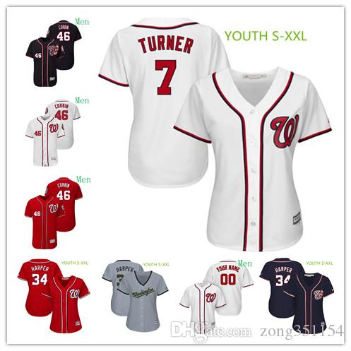 finest selection 1305b 3026a Women Men Youth Kids Jersey Bryce Harper Max Scherzer Patrick Corbin Tommy  Milone Howie Kendrick Adam Eaton Custom Nationals Baseball Jersey