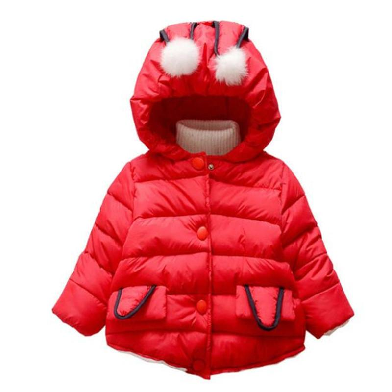 6c6408943 BibiCola Newborn Baby Girls Thick Warm Coats Toddler Girls Winter ...
